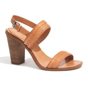 Madewell Tan Woven Leather Hutton Sandals